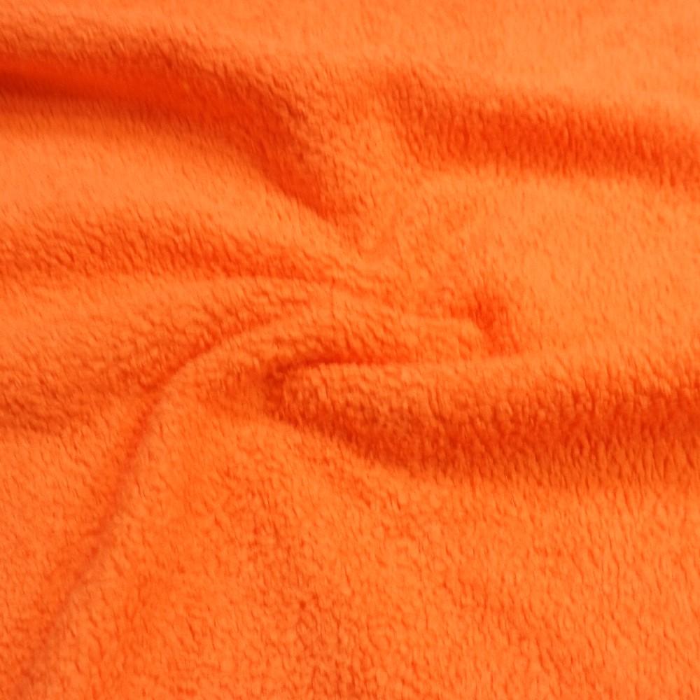 plyš oranžový