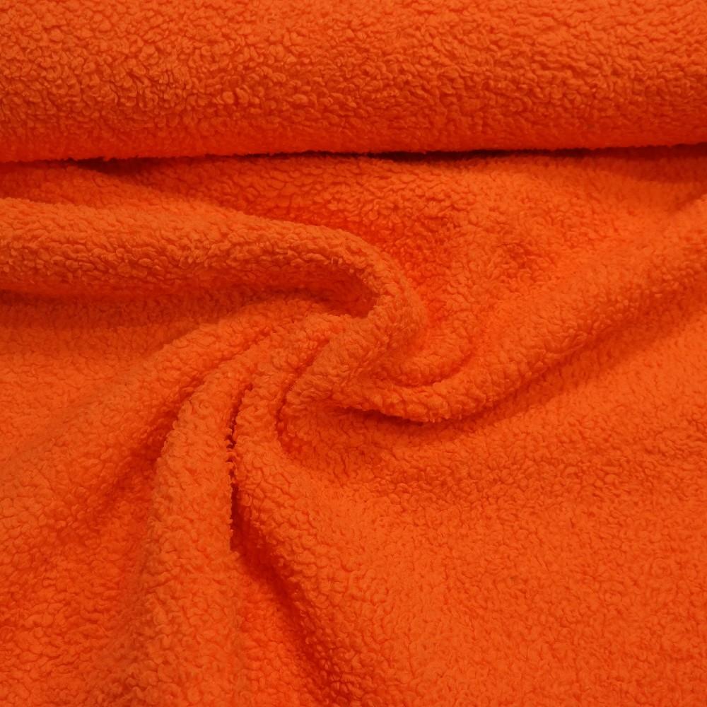 plyš oranžový velur 210 cm
