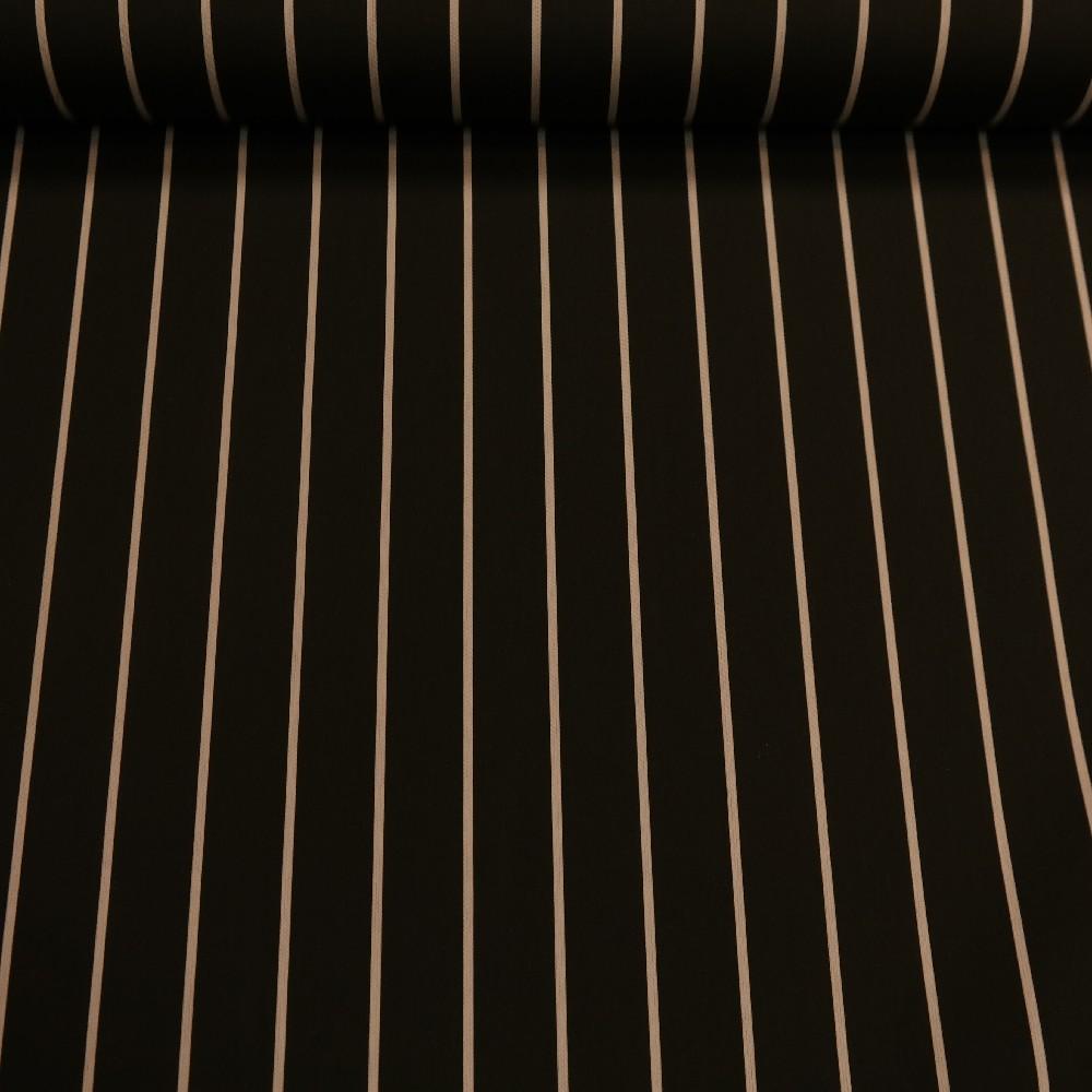slunečníkovina tm.šedá-bílý proužek