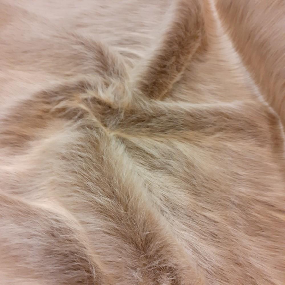 plyš hnědý dlouhý chlup
