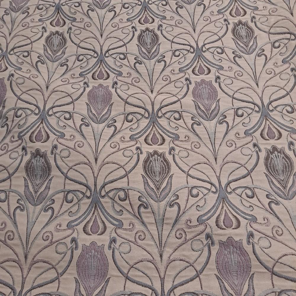 potahovka sv. béž. fialové květy