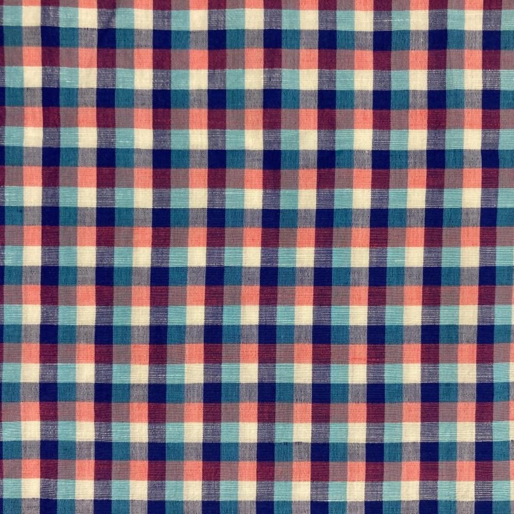 košilovina kostka modro růžová