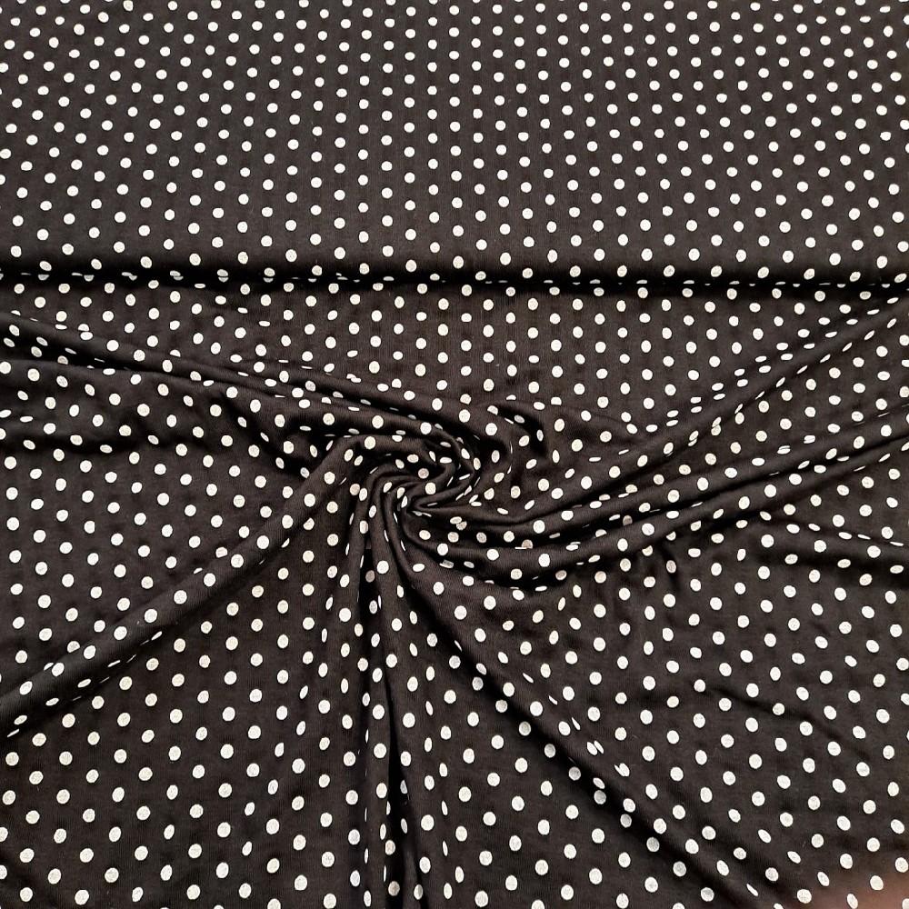 úplet černý puntík bílý větší