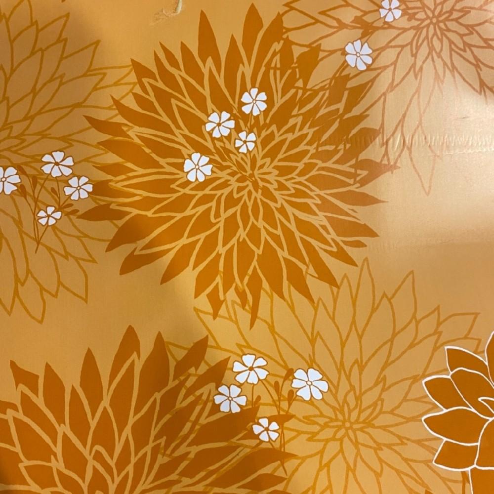 folie PVC oranžové květy