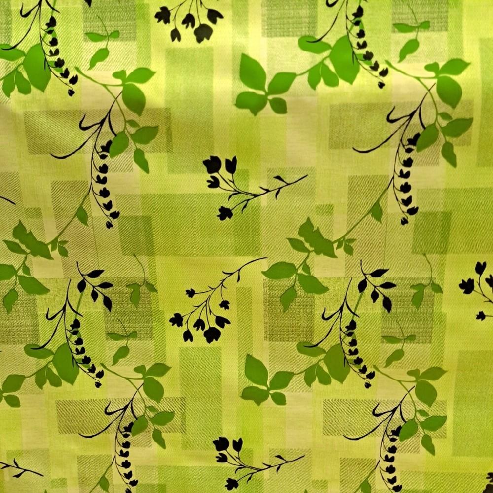 folie PVC zelené kostky lístky drobné