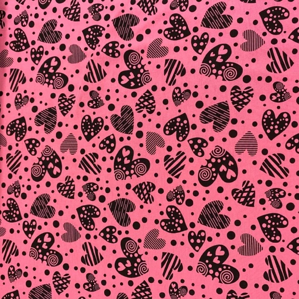 úplet srdce růžový 160gr.digitální tisk