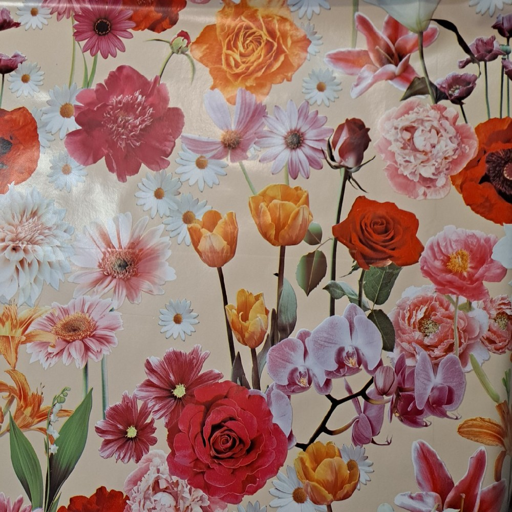 ubrus PVC květiny š.140