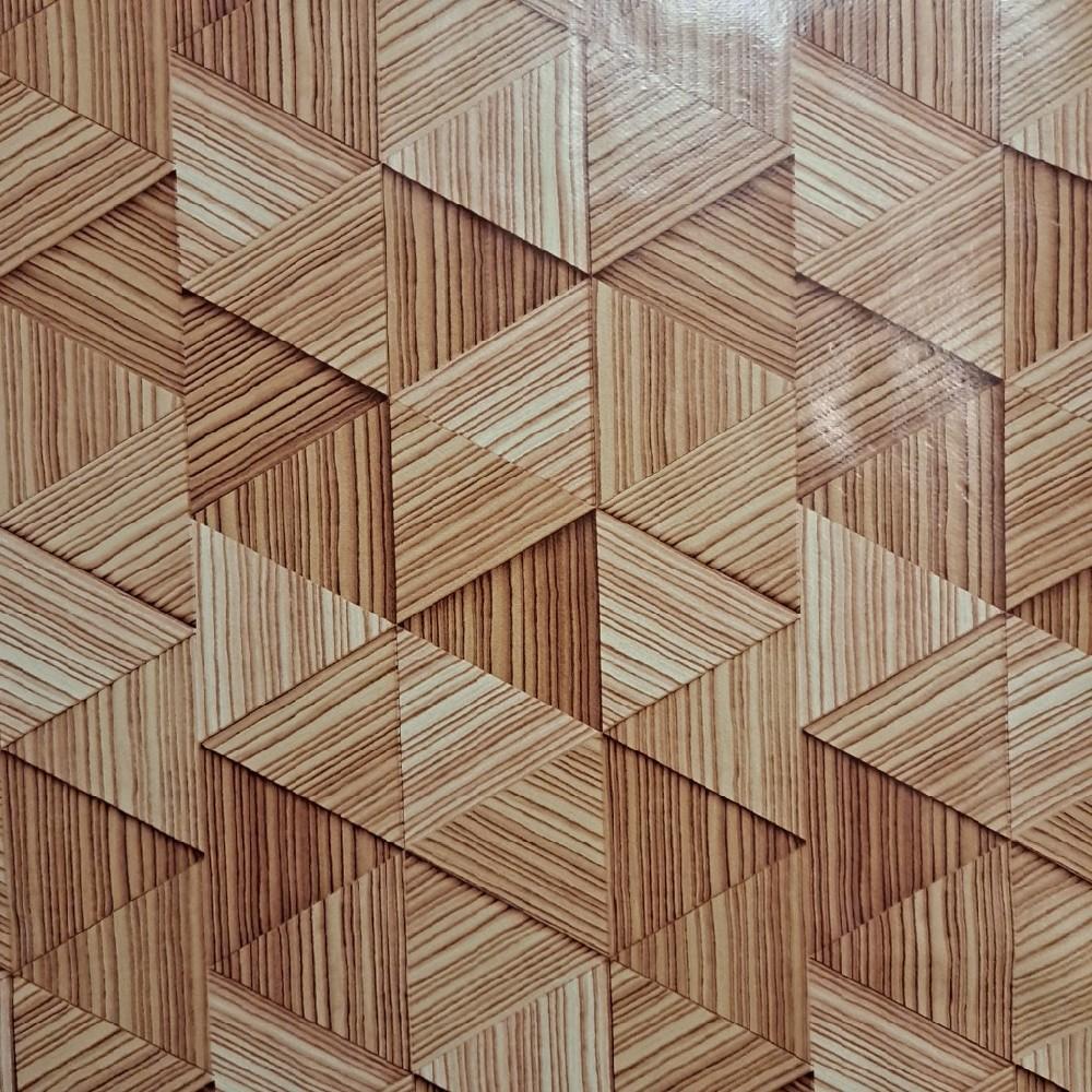 ubrus PVC hnědé trojúhelníky š.140