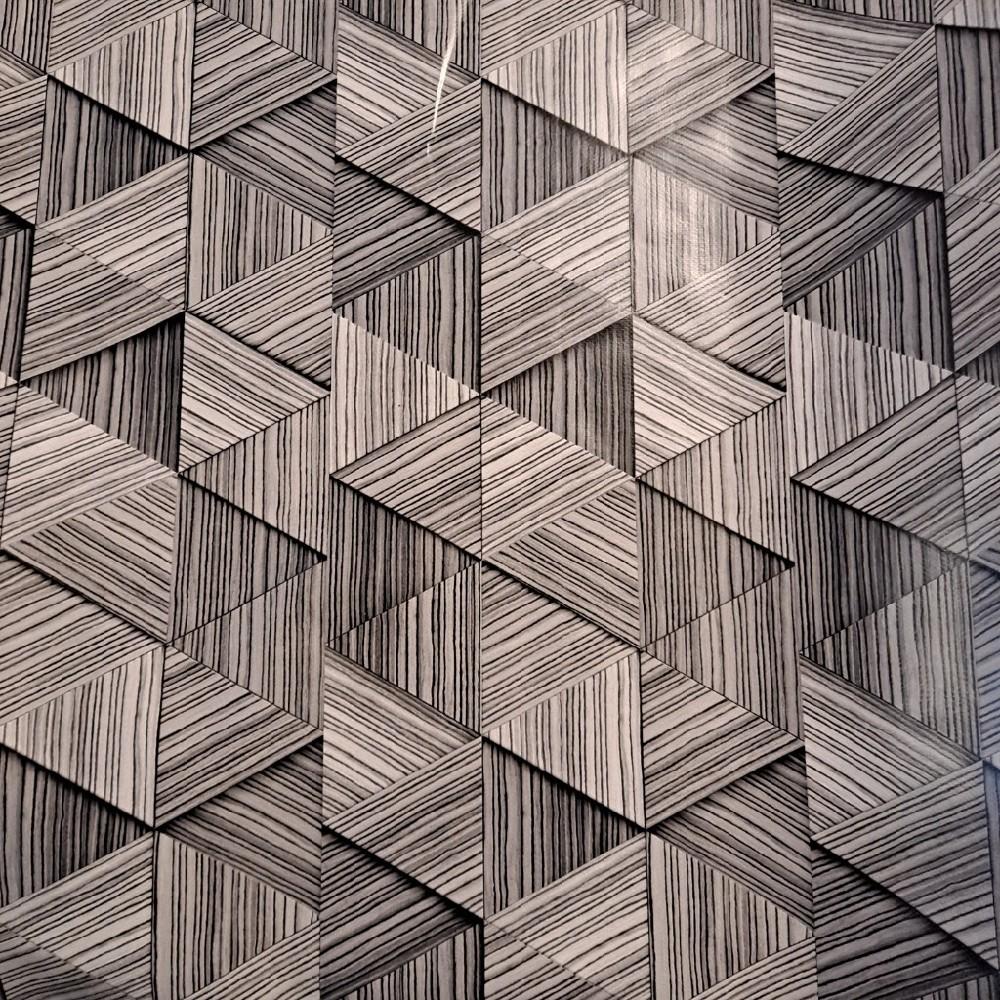 ubrus PVC šedé trojúhelníky š.140
