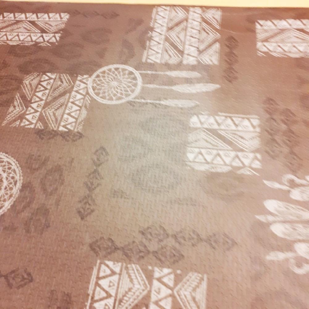 soft terra hnědý se vzorem