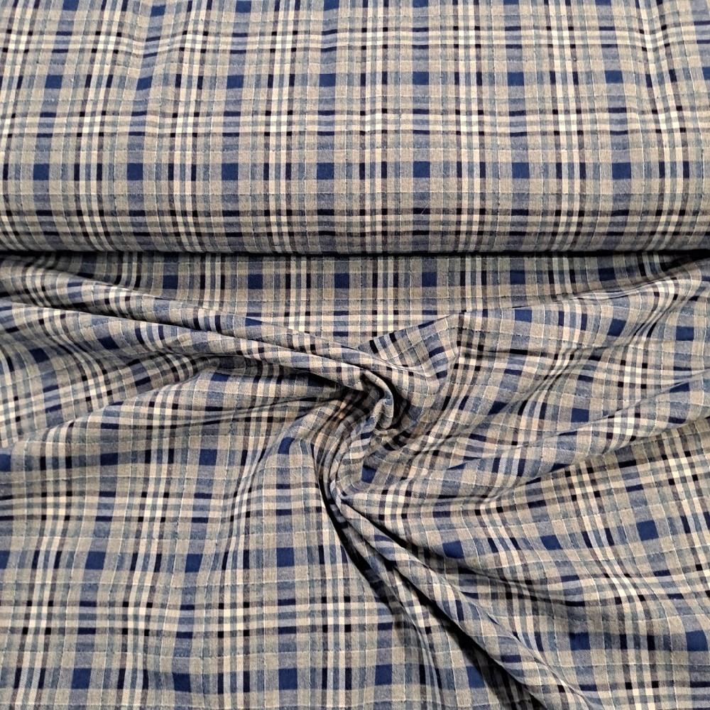 košilovina modrá kostička