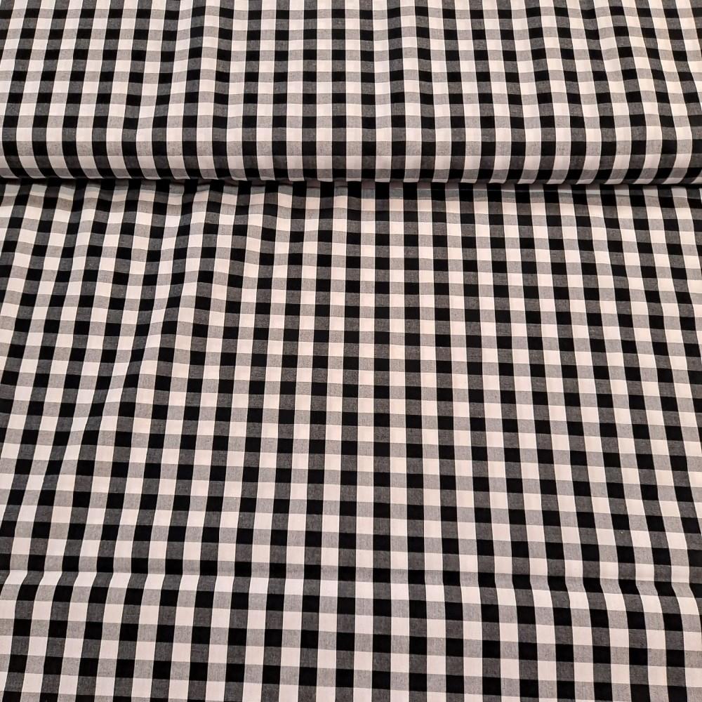 košilovina černo-bílá kostička