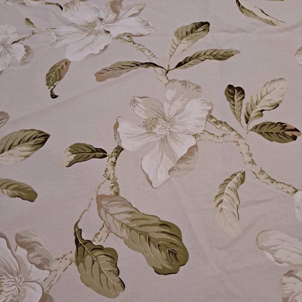 bavlna sv.šedá velké květy