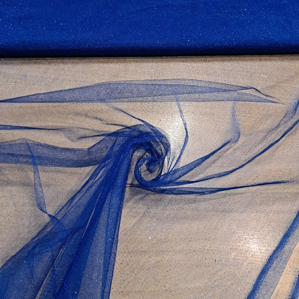 tyl modrý s flitry