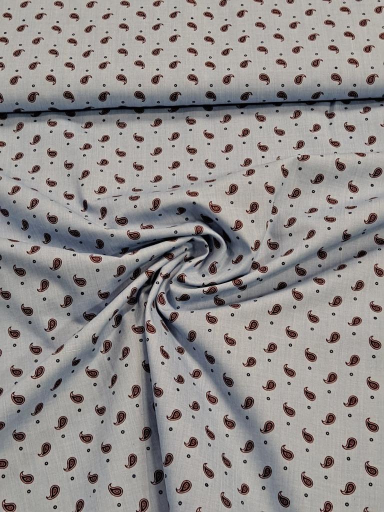 košilovina sv. modrá kašmírový vzor