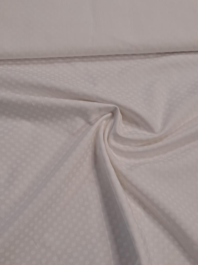 bavlna bílá odělní bílý puntík