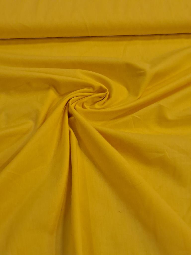 popelín žlutý
