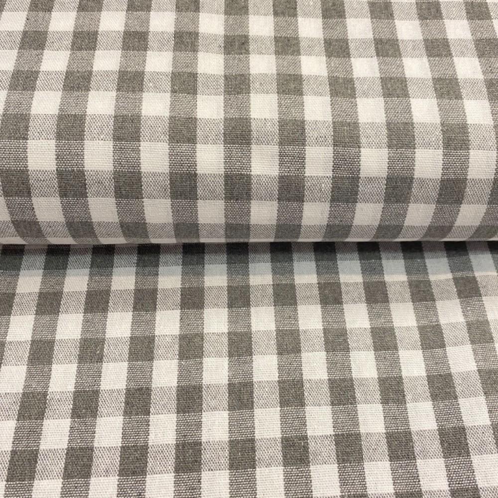 bavlna kanafas šedá kostička150cm