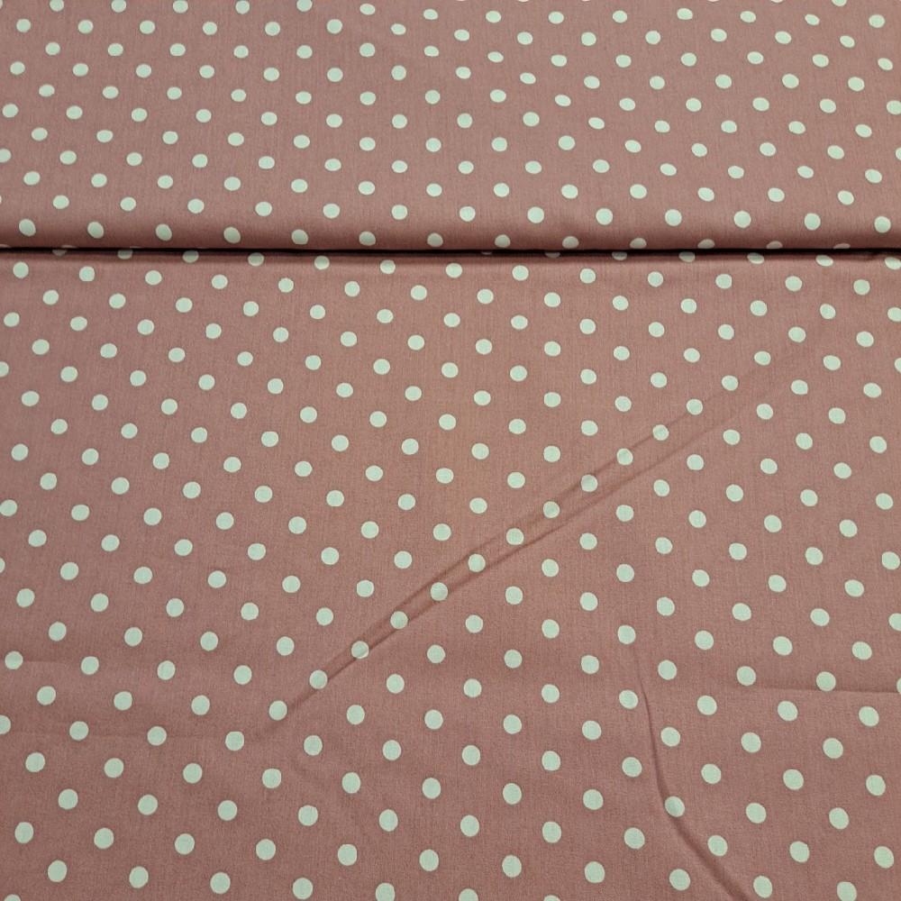 bavlna růžová puntík