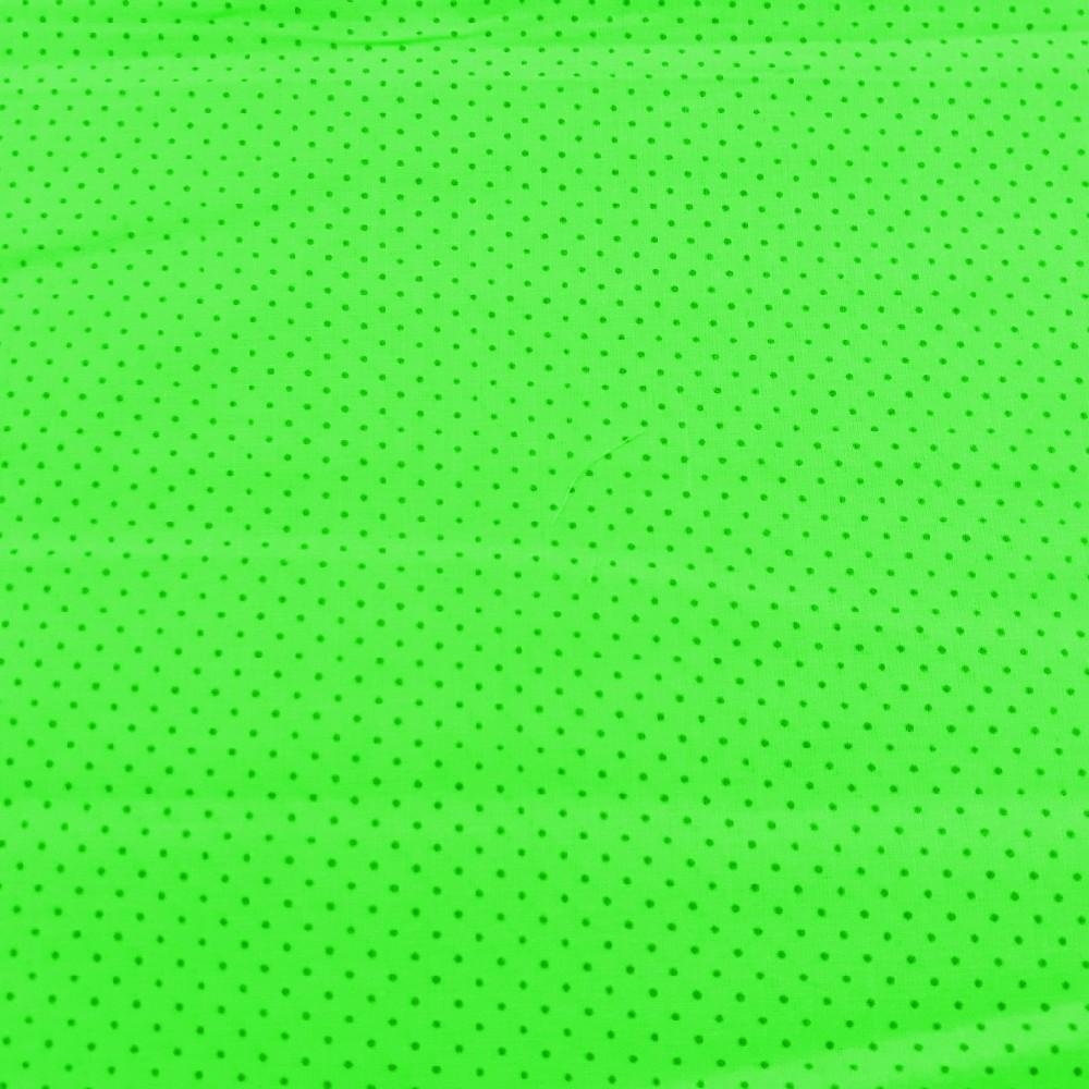bavlna sv.zelená puntík