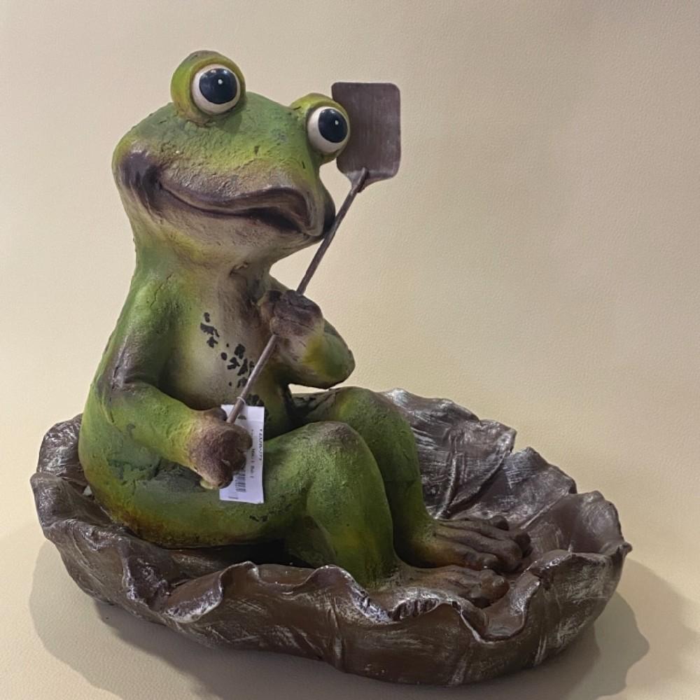 pítko žába dekorace zahradní42cm
