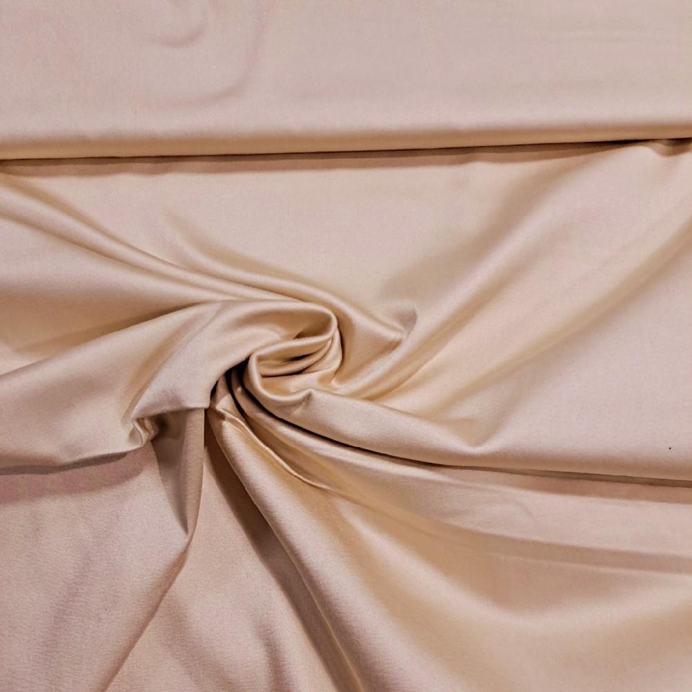 satén béž.,elast., š. 110 cm