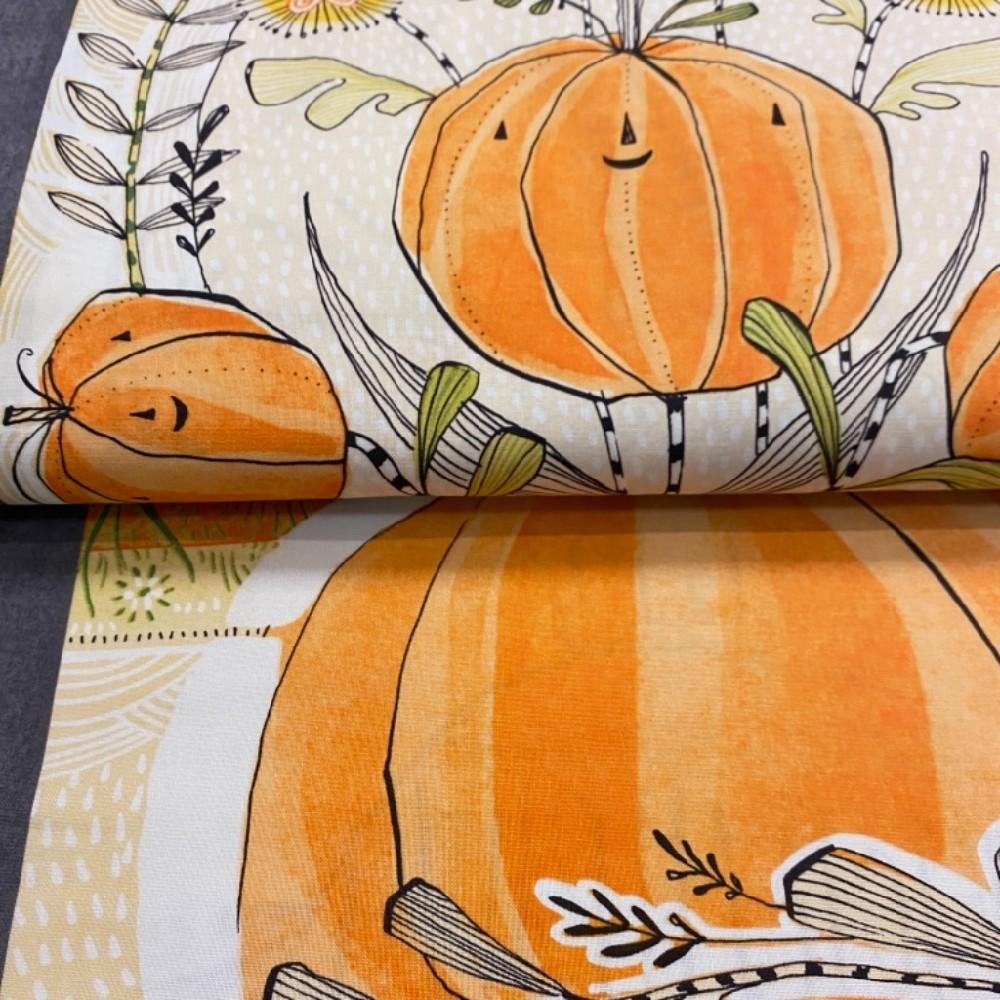 bavlna podzimní motiv panely 110cm