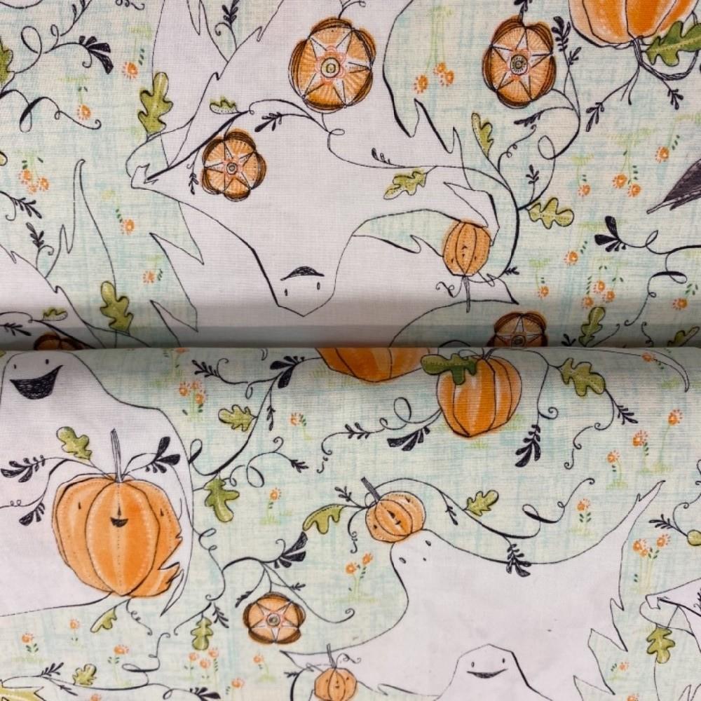 bavlna podzimní motiv 110cm