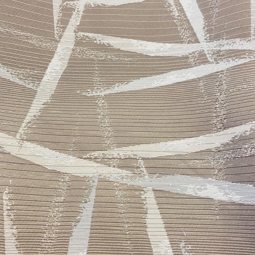 dekoračka béžová bílé pruhy 140cm