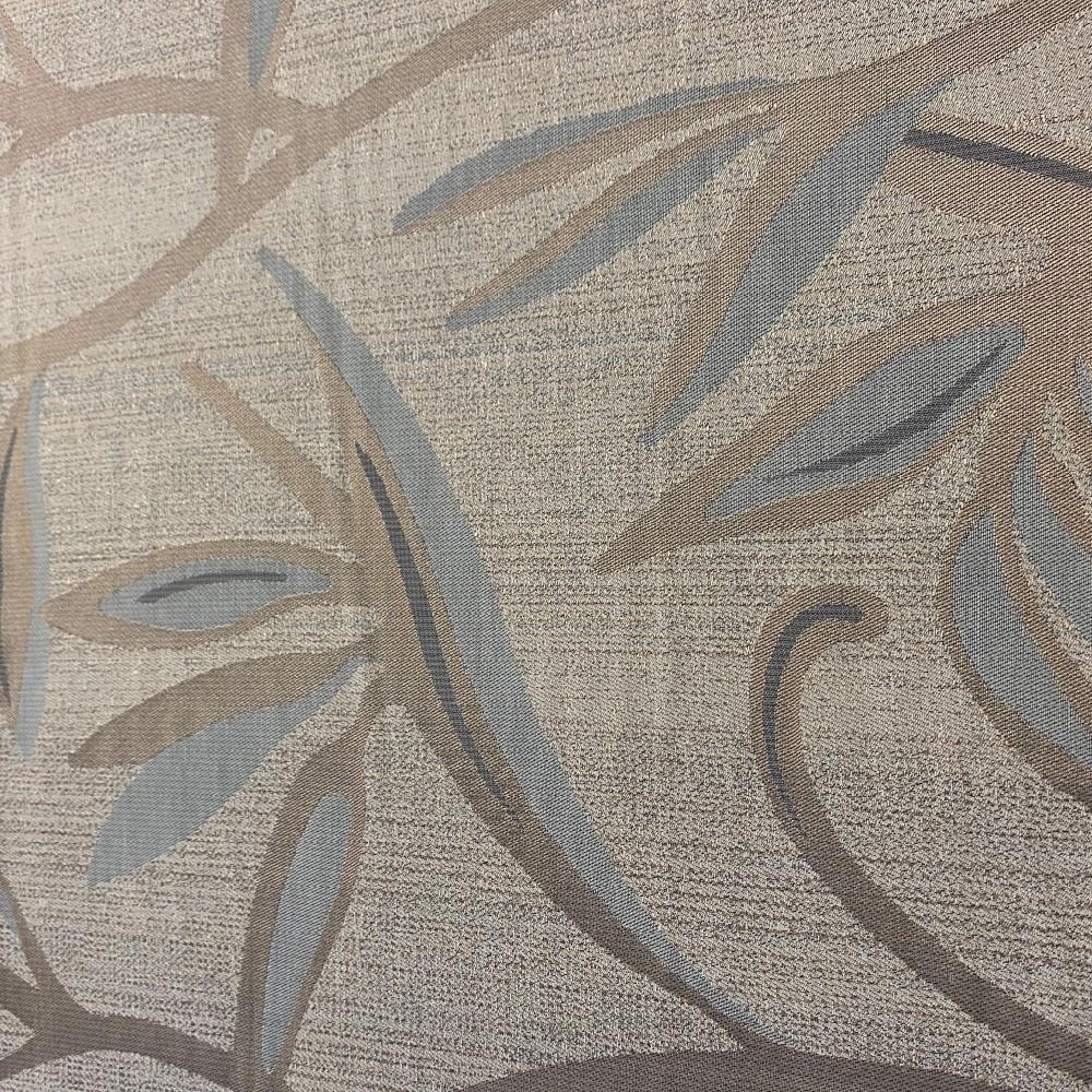 dekoračka šedo/béžová květy 140cm