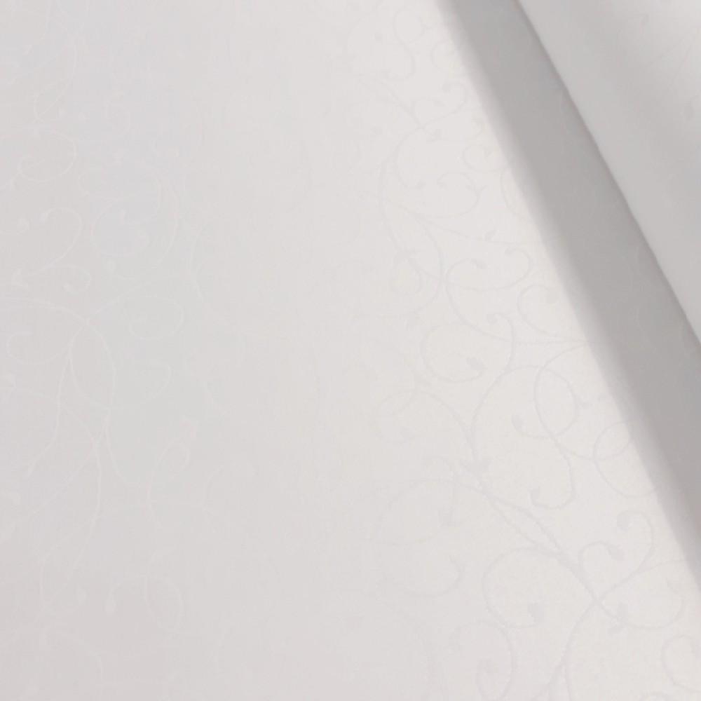dekorační látka bílá 160 cm,pes/bav.