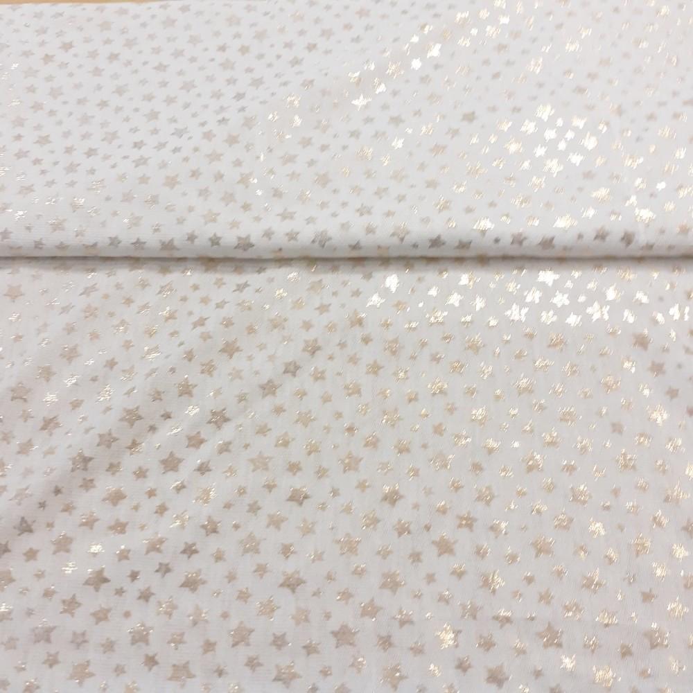 halenkovka bílá hvězdičky
