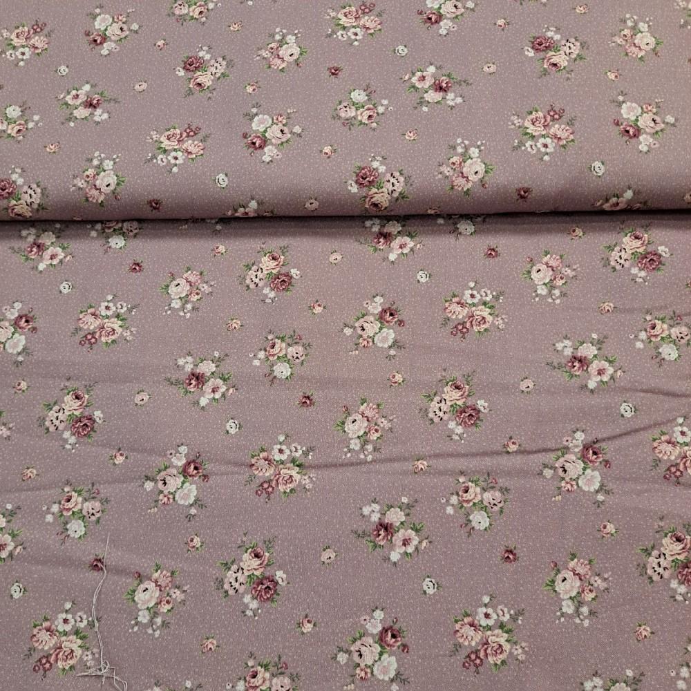 bavlna filová kytičky
