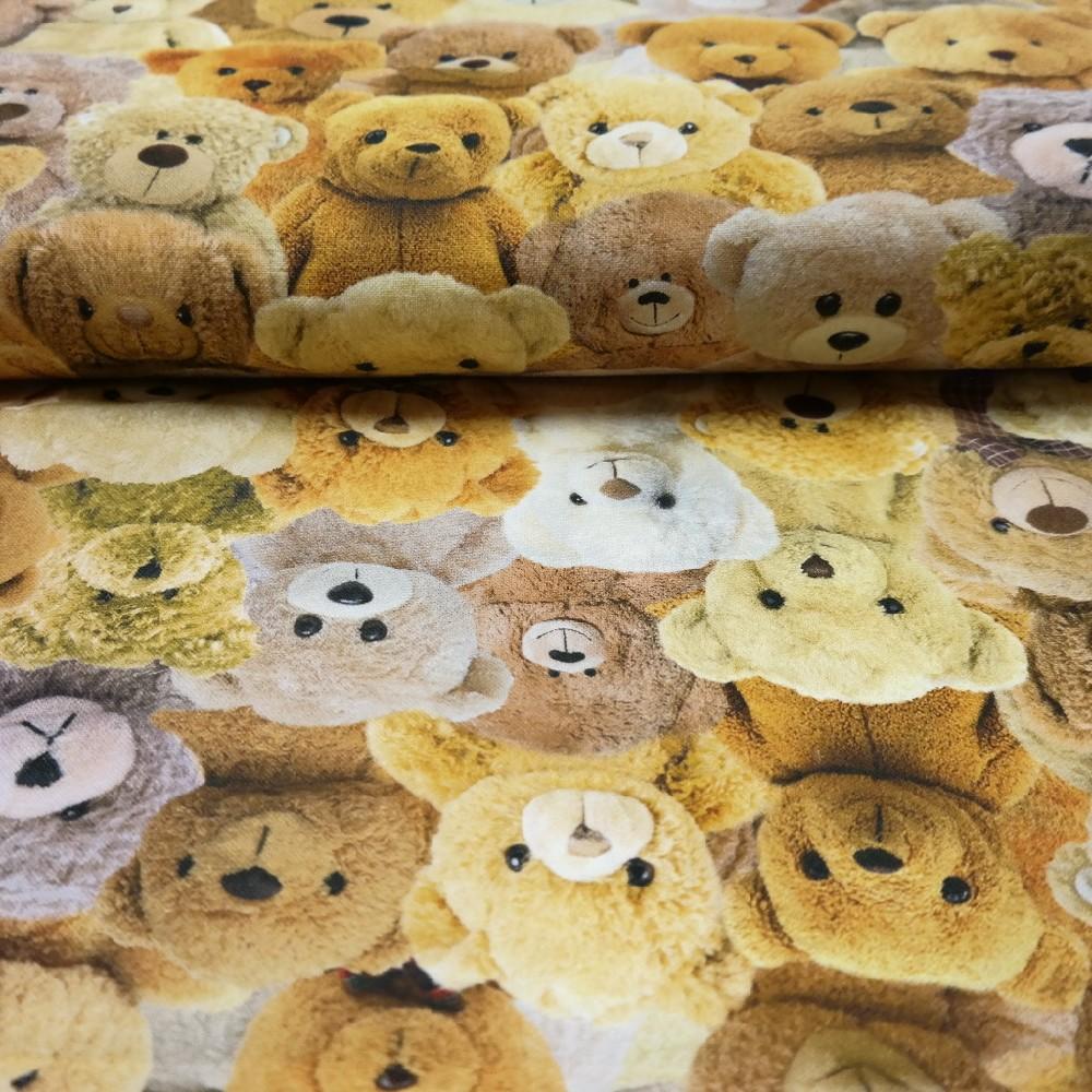 bavlna plyšoví medvídci