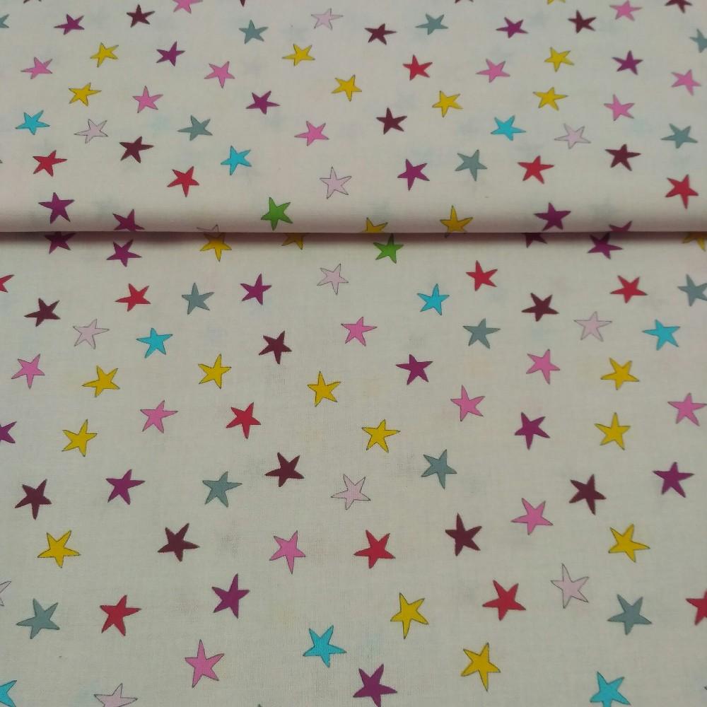 bavlna růžová hvězdy 110 cm