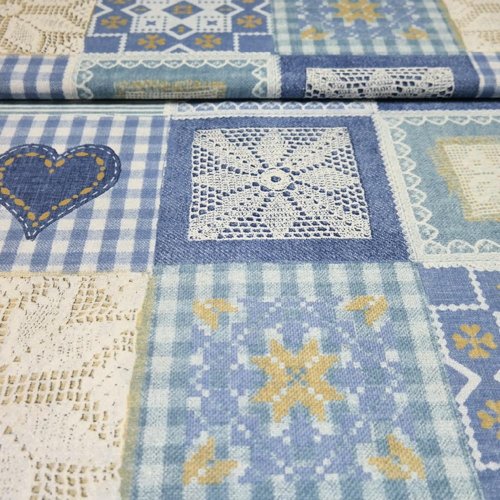 dekoračka Crochet, modrá krajka