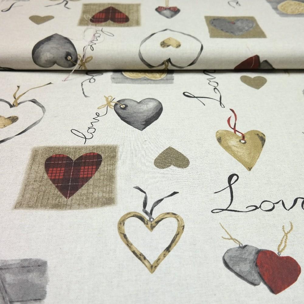 Dekoračka 140cm LOVE 349515/1 srdce nápisy