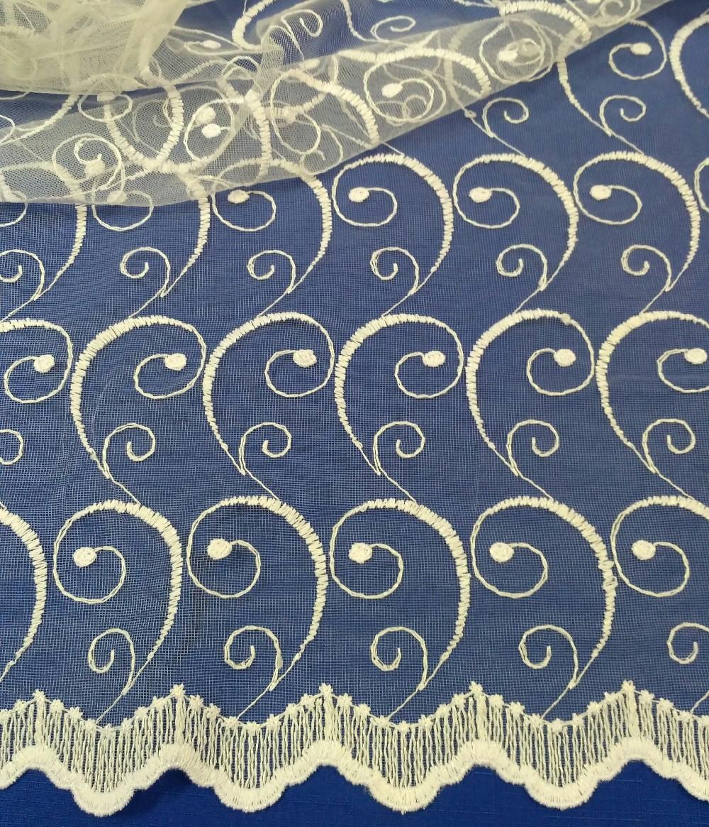 záclona Ervi  vyšívaná 220 cm