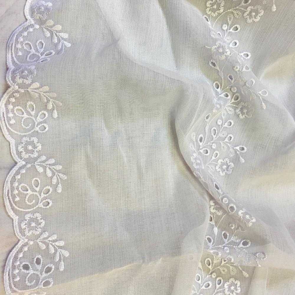 záclona Ra šedo-stříbrný vzor 290cm voál