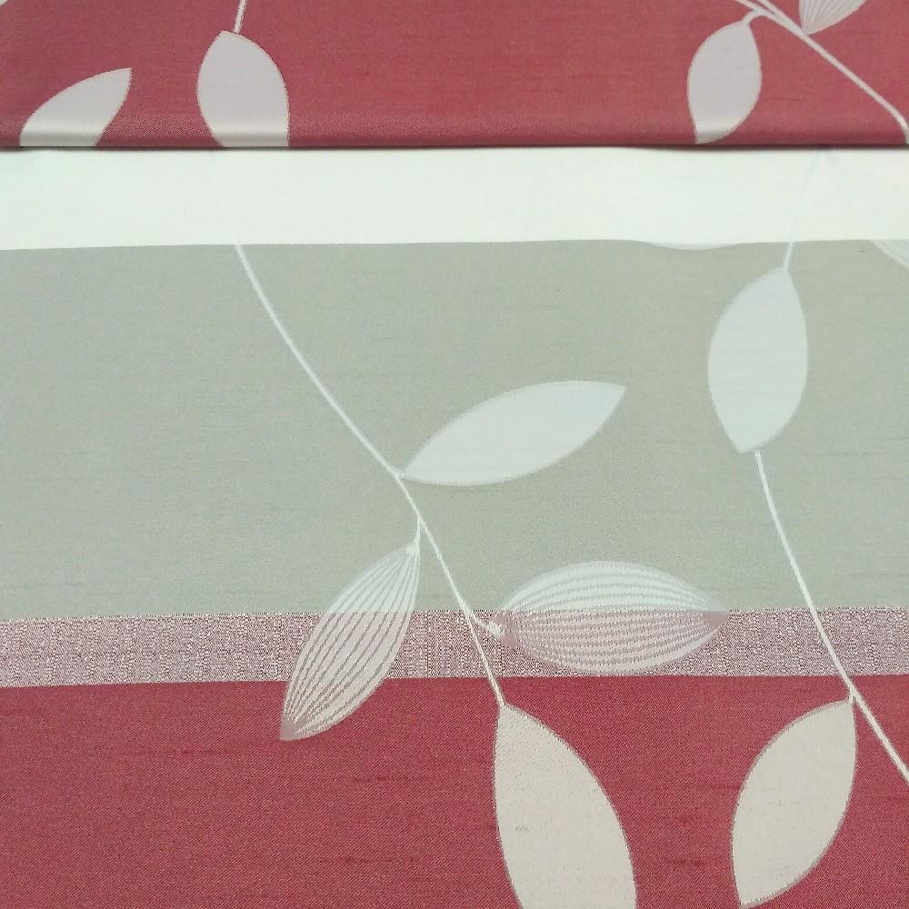 dekoračka Un 6251 šedovínový pruh listy š.140cm