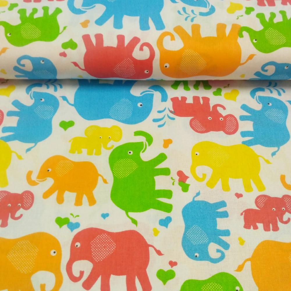 bavlna sloníci 160 cm