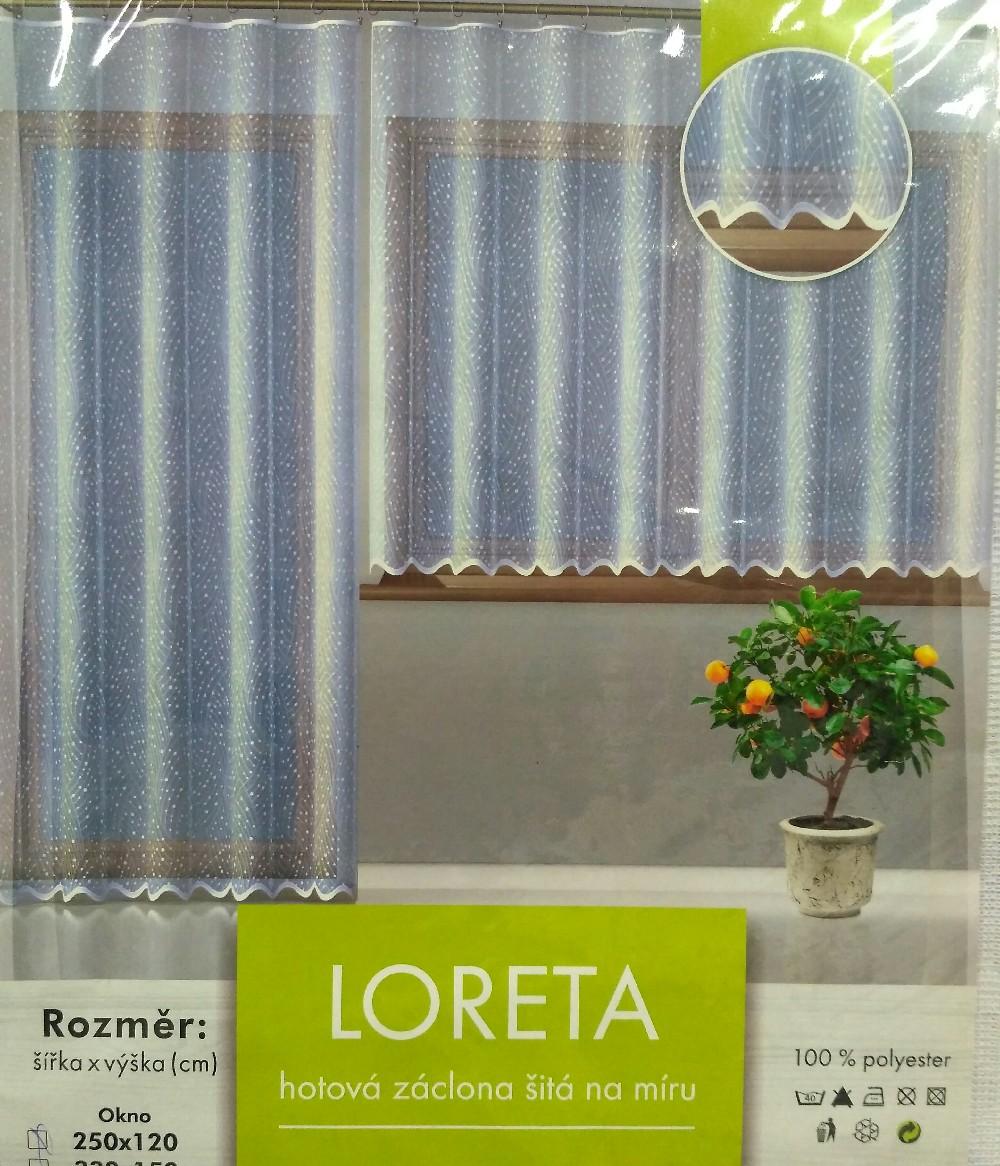 záclona hotová Fo Loreta200x250