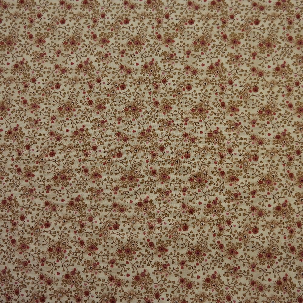 bavlna béžové kytky 110 cm