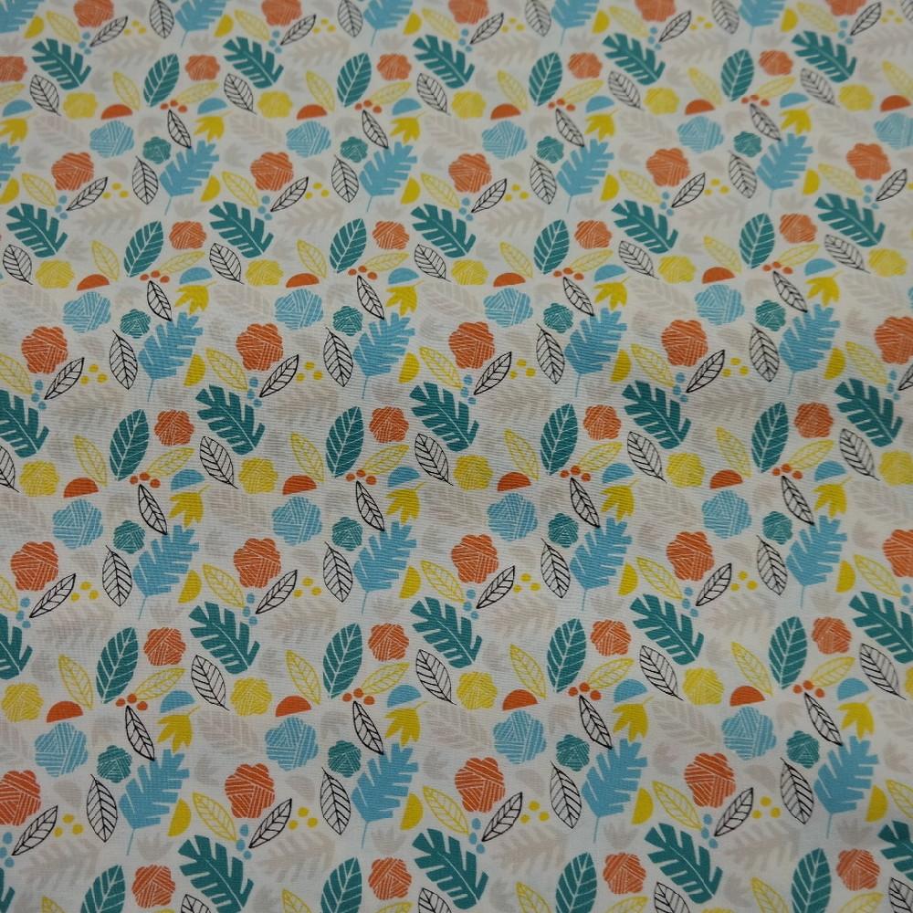 bavlna barevné listy 110 cm