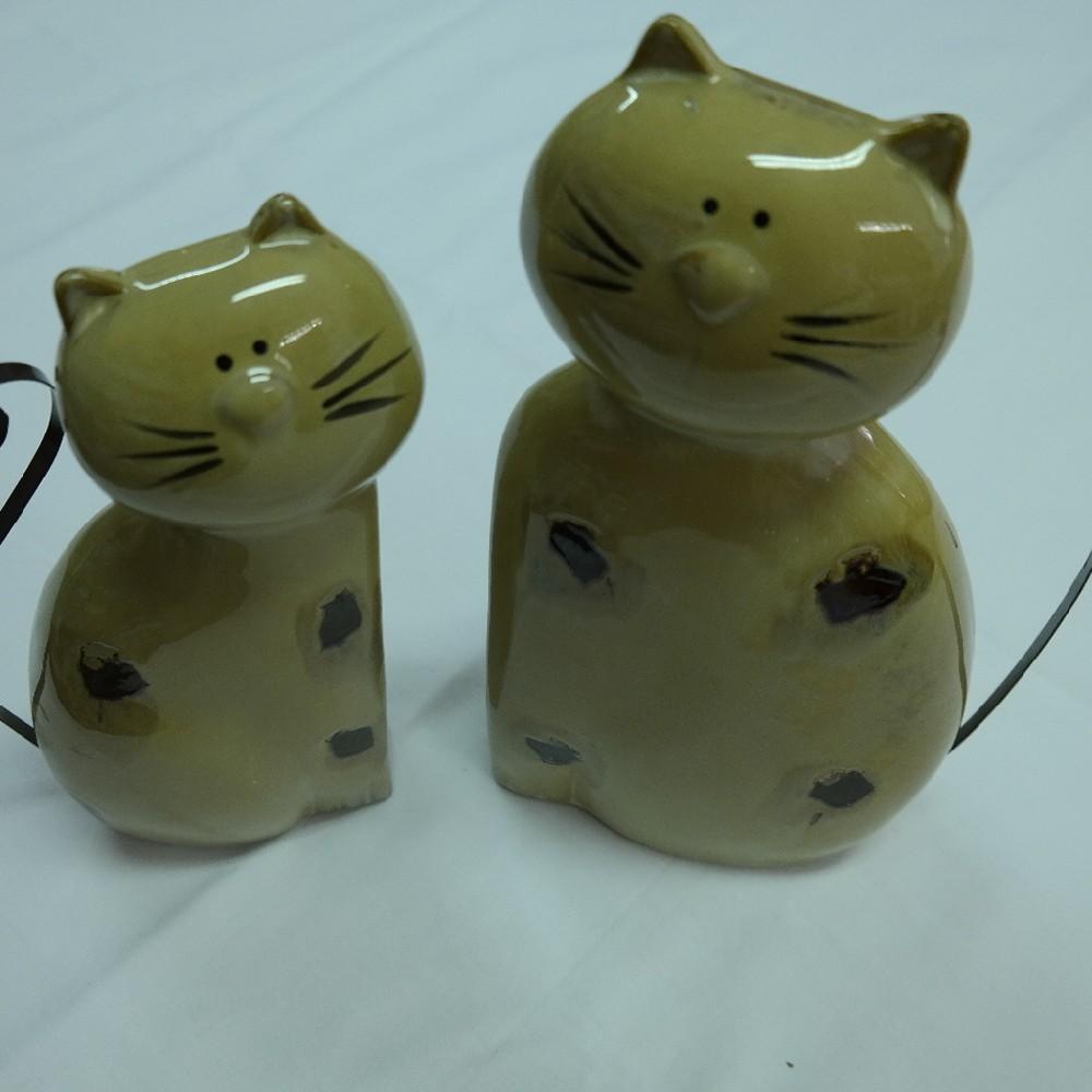 kočka keramická malá