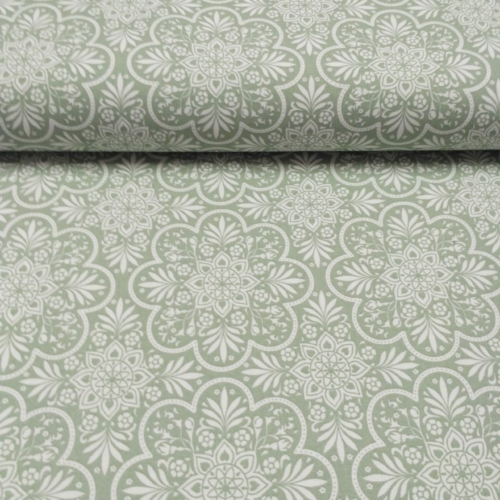 bavlna mint ornamenty
