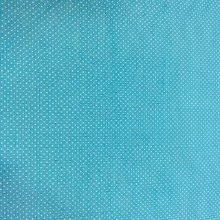 bavlna bílý puntík na modrém podkladě 140 cm