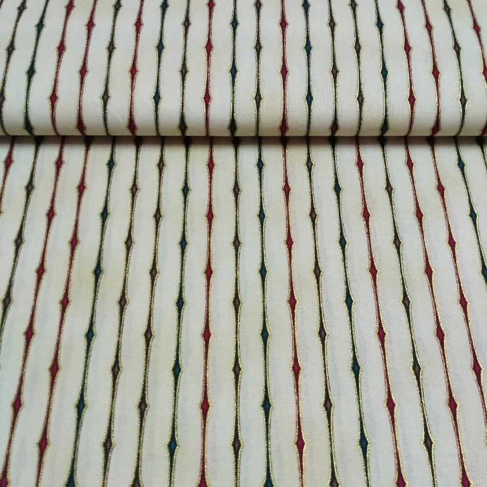 bavlna béžová linky