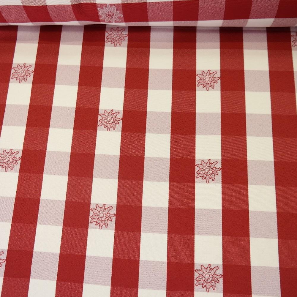 dekoračka Ho červeno bílá kostka 3 cn  145 cm