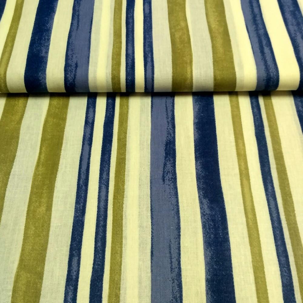 bavlna modro.zel.proužky š,140